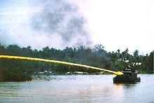 fire from boat